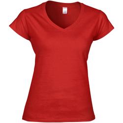 Vêtements Femme T-shirts manches courtes Gildan Soft Style Rouge