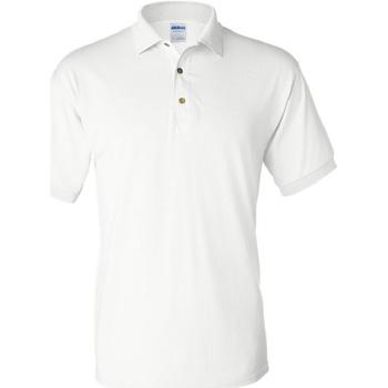 Vêtements Homme Polos manches courtes Gildan Jersey Blanc