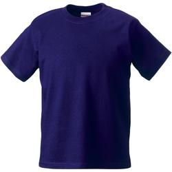 Vêtements Enfant T-shirts manches courtes Jerzees Schoolgear Classics Violet