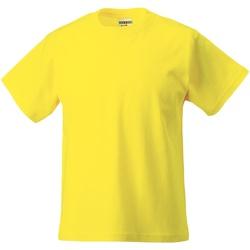 Vêtements Enfant T-shirts manches courtes Jerzees Schoolgear Classics Jaune