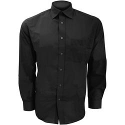 Vêtements Homme Chemises manches longues Kustom Kit KK104 Noir