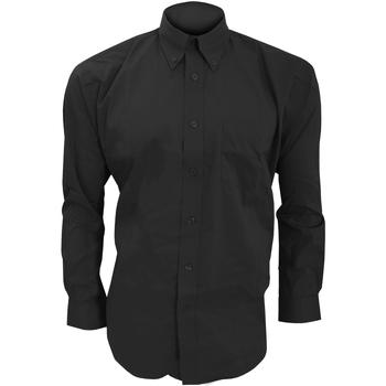Vêtements Homme Chemises manches longues Kustom Kit KK105 Noir