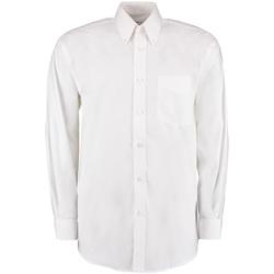 Vêtements Homme Chemises manches longues Kustom Kit Oxford Blanc