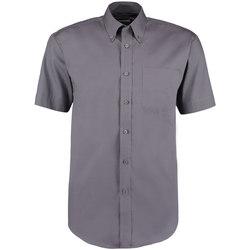 Vêtements Homme Chemises manches courtes Kustom Kit Oxford Gris foncé