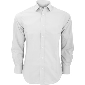 Vêtements Homme Chemises manches longues Kustom Kit Business Blanc