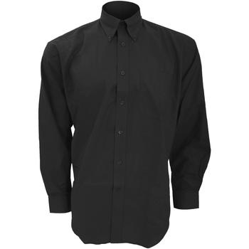 Vêtements Homme Chemises manches longues Kustom Kit KK351 Noir
