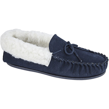 Chaussures Femme Chaussons Mokkers Moccasin Bleu marine