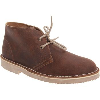 Chaussures Garçon Boots Roamers Distressed Marron