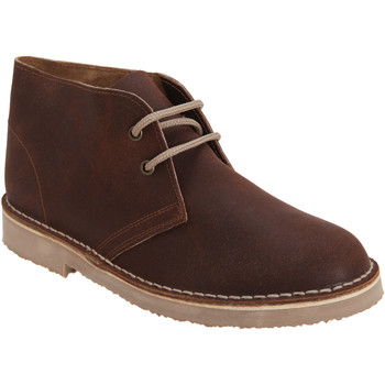 Chaussures Homme Boots Roamers Distressed Marron