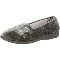 Chaussures Femme Chaussons Zedzzz Embroidered Gris