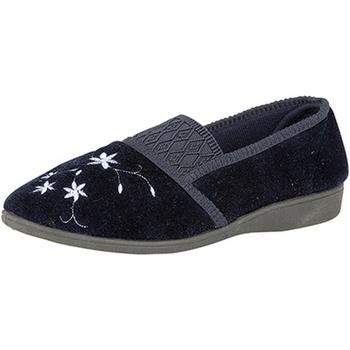 Chaussures Femme Chaussons Zedzzz Embroidered Bleu marine