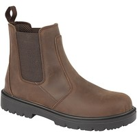 Chaussures Homme Boots Grafters Safety Marron