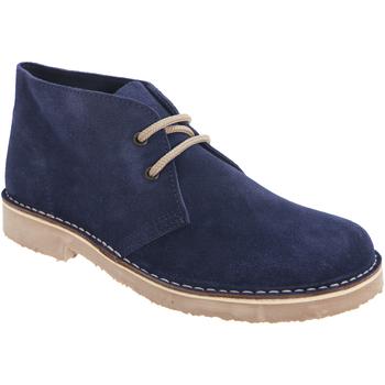 Chaussures Femme Boots Roamers Round Toe Bleu marine