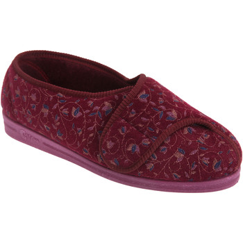 Chaussures Femme Chaussons Comfylux Floral Rouge