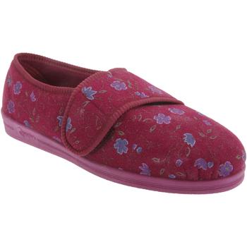 Chaussures Femme Chaussons Comfylux Floral Vin
