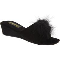 Chaussures Femme Mules Sleepers Rosette Noir