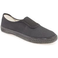 Chaussures Garçon Slip ons Dek Gusset Noir