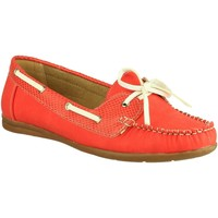 Chaussures Femme Chaussures bateau Divaz BELGRAVIA Rouge