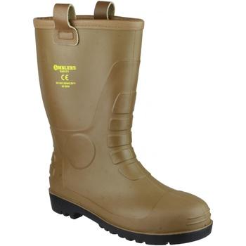 Chaussures Homme Bottes de pluie Footsure 95 TAN PVC RIGGER Fauve