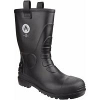 Chaussures Bottes de pluie Amblers  Noir
