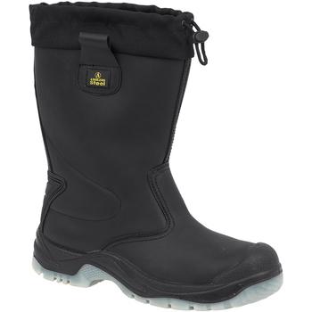 Chaussures Homme Bottes de pluie Amblers FS209 SAFETY Noir