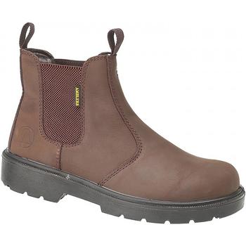 Chaussures Femme Bottines Amblers FS128 Safety Marron