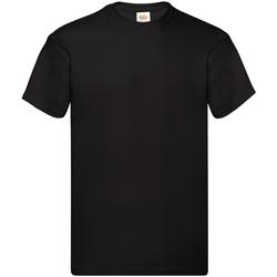 Vêtements Homme T-shirts manches courtes Fruit Of The Loom Original Noir