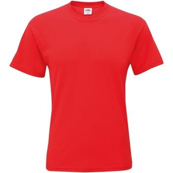 Vêtements Homme T-shirts manches courtes Fruit Of The Loom Original Rouge