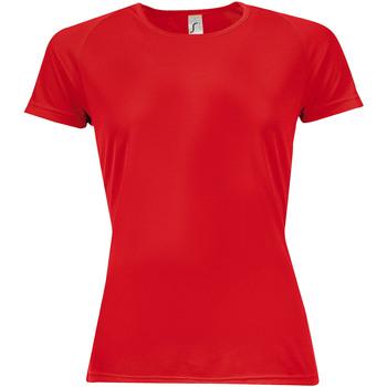 Vêtements Femme T-shirts manches courtes Sols Sporty Rouge