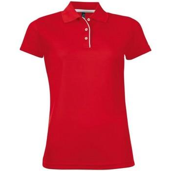 Vêtements Femme Polos manches courtes Sols Performer Rouge