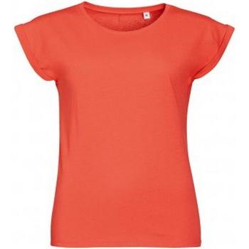 Vêtements Femme T-shirts manches courtes Sols Melba Corail