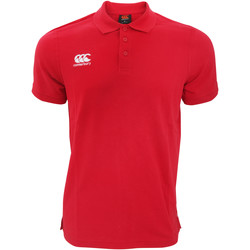 Vêtements Homme Polos manches courtes Canterbury Pique Rouge