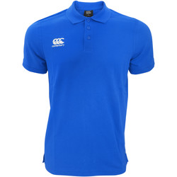 Vêtements Homme Polos manches courtes Canterbury Pique Bleu roi