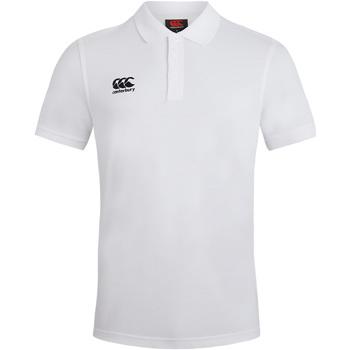 Vêtements Homme Polos manches courtes Canterbury Pique Blanc