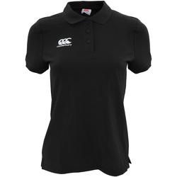 Vêtements Femme Polos manches courtes Canterbury Pique Noir