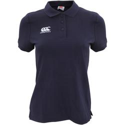 Vêtements Femme Polos manches courtes Canterbury Pique Bleu marine