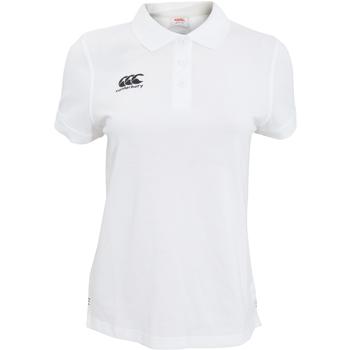 Vêtements Femme Polos manches courtes Canterbury Pique Blanc