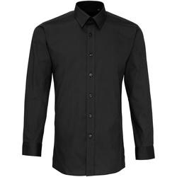 Vêtements Homme Chemises manches longues Premier PR204 Noir