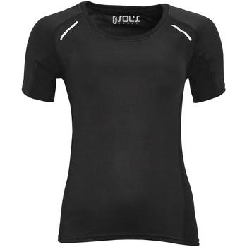 Vêtements Femme T-shirts manches courtes Sols Sydney Noir