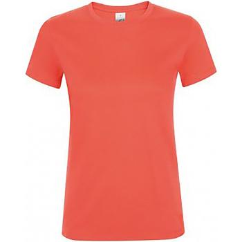 Vêtements Femme T-shirts manches courtes Sols Regent Corail