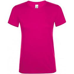 Vêtements Femme T-shirts manches courtes Sols Regent Fuchsia