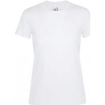 Vêtements Femme T-shirts manches courtes Sols Regent Blanc
