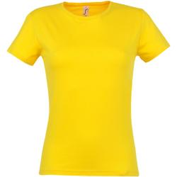 Vêtements Femme T-shirts manches courtes Sols Miss Jaune