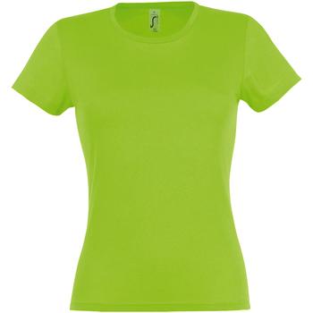 Vêtements Femme T-shirts manches courtes Sols Miss Vert citron