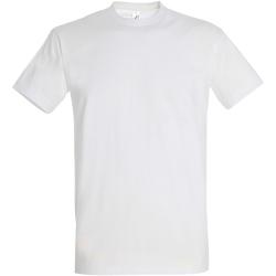 Vêtements Homme T-shirts manches courtes Sols Imperial Blanc