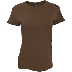 Vêtements Femme T-shirts manches courtes Sols Imperial Marron
