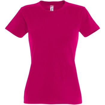 Vêtements Femme T-shirts manches courtes Sols Imperial Fuchsia