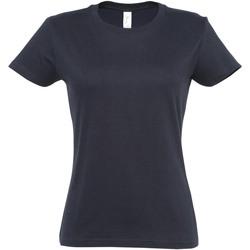 Vêtements Femme T-shirts manches courtes Sols Imperial Bleu marine