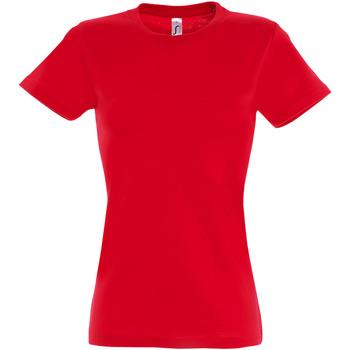 Vêtements Femme T-shirts manches courtes Sols Imperial Rouge