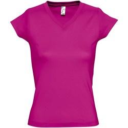 Vêtements Femme T-shirts manches courtes Sols Moon Fuchsia